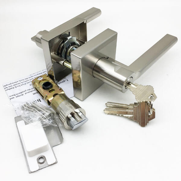 8815SN ET 3 - Contemporary Interior Keyed Entry Door Lever With Handles 8815