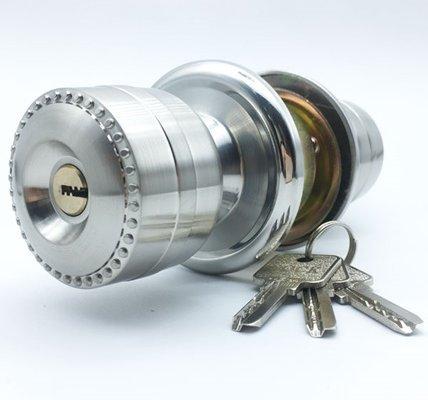 Aluminum Alloy Door Knob Lock Set For Both Sides Security Doors 5883