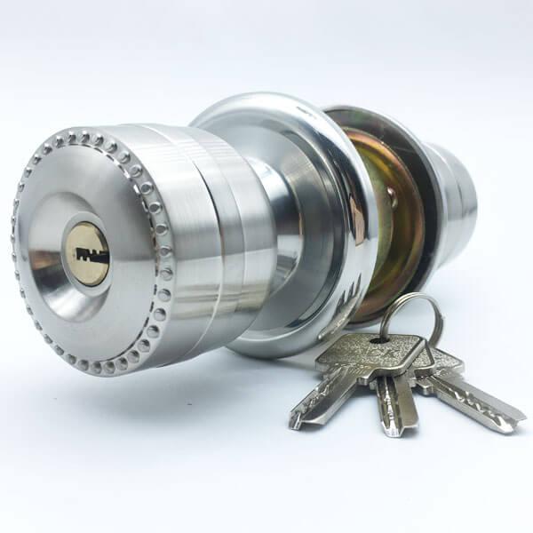 Aluminum Alloy Door Knob Lock Set For Both Sides Security Doors 5883SS ET 4 - Aluminum Alloy Door Knob Lock Set For Both Sides Security Doors 5883
