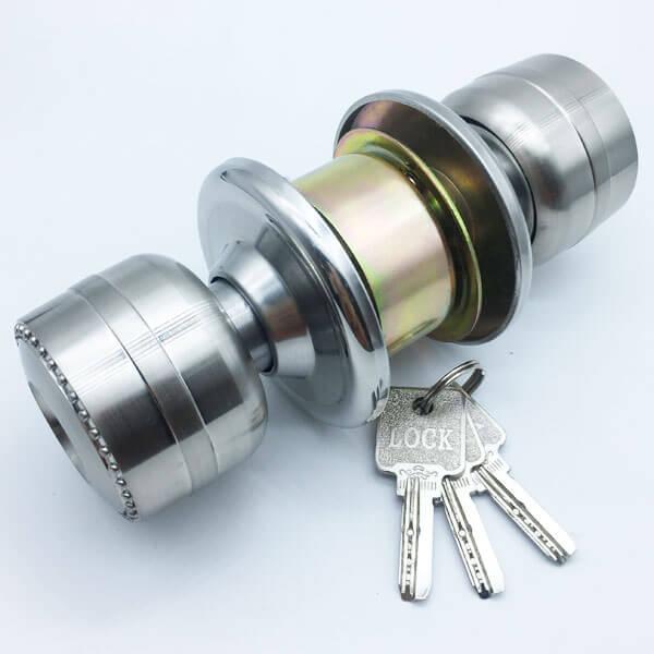 Aluminum Alloy Door Knob Lock Set For Both Sides Security Doors 5883SS ET 5 - Aluminum Alloy Door Knob Lock Set For Both Sides Security Doors 5883