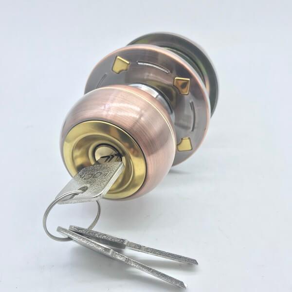 Antique Entrance Door Knob Lock Set With Keys For Sale 588 2 - Antique Entrance Door Knob Lock Set With Keys For Sale 588