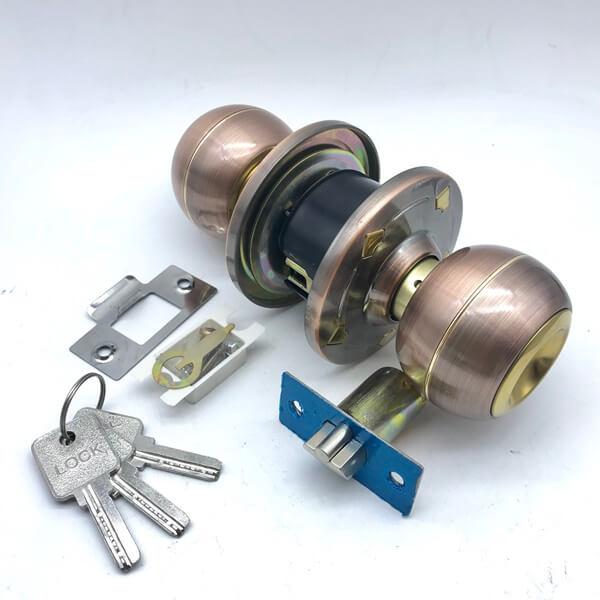 Antique Entrance Door Knob Lock Set With Keys For Sale 588 5 - Antique Entrance Door Knob Lock Set With Keys For Sale 588