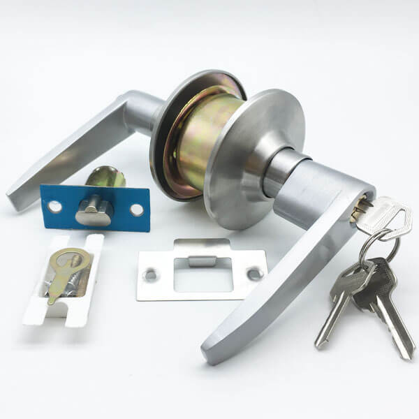 Cylinder Door Lever With Push Button Lock For Exterior Door 6411SS ET 5 - Cylinder Door Lever With Push Button Lock For Exterior Door 6411