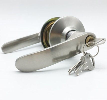 Cylindrical Child Safety Lever Door Locks With Key For Storeroom Door 701