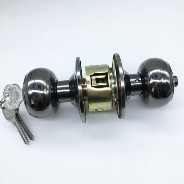 Door Knob Electronic Lock For Security Doors And Front Doors 9540BNAC ET 2 - One Sided Door Knob Lock For Bedroom Doors From The Outside 9540