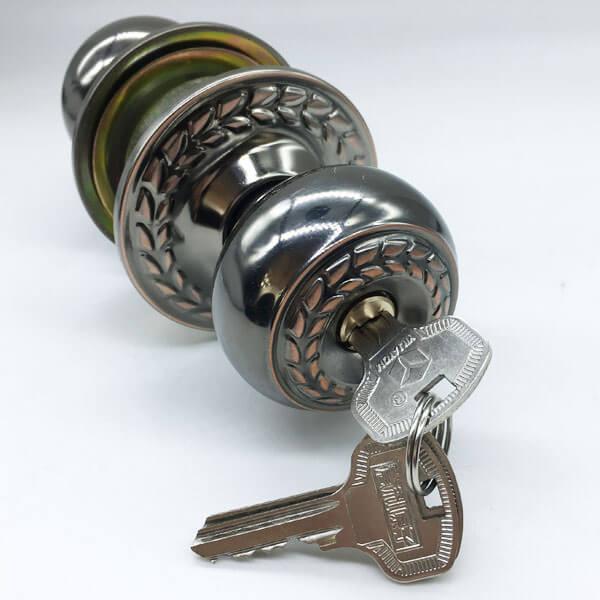 Door Knob Electronic Lock For Security Doors And Front Doors 9540BNAC ET 3 - One Sided Door Knob Lock For Bedroom Doors From The Outside 9540