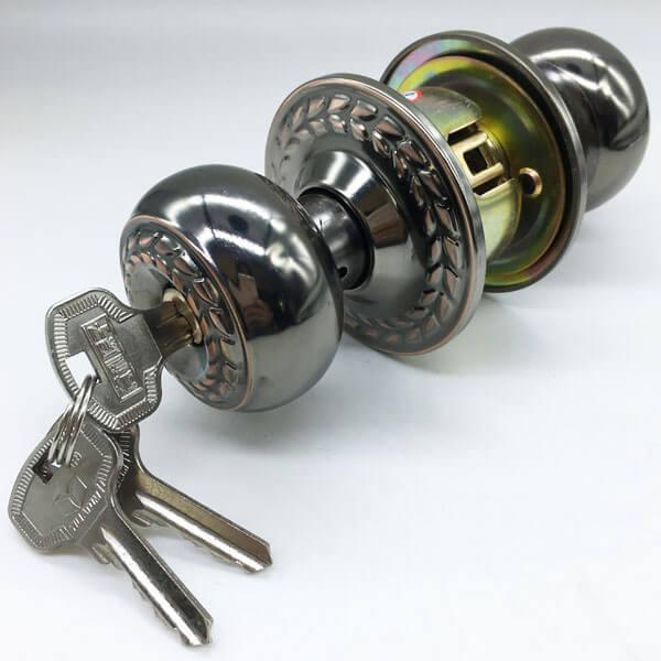 Door Knob Electronic Lock For Security Doors And Front Doors 9540BNAC ET 4 - One Sided Door Knob Lock For Bedroom Doors From The Outside 9540