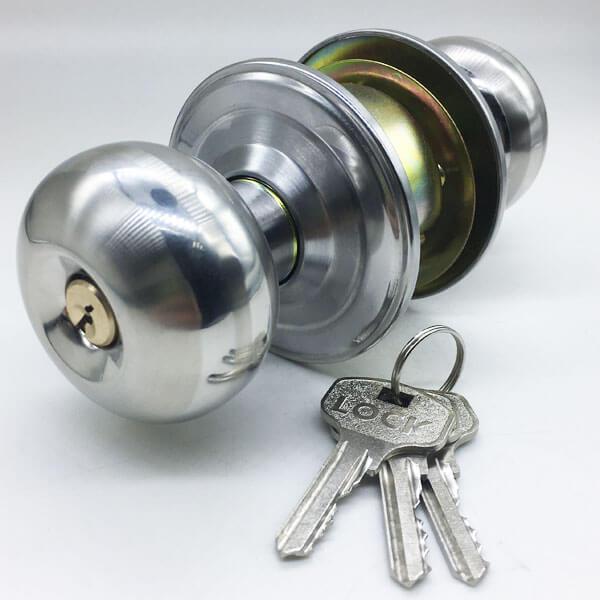 Entry Door Knob Lock Set For External Door And Bedroom Door 5791SS ET 1 - Entry Door Knob Lock Set For External Door And Bedroom Door 5791