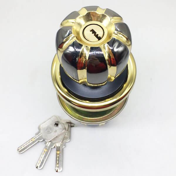 Exterior Door Knob Lock With Key Lock On Single Side 5881BNPB ET 2 - Exterior Door Knob Lock With Key Lock On Single Side 5881