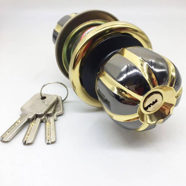 Exterior Door Knob Lock With Key Lock On Single Side 5881BNPB ET 5 - Exterior Door Knob Lock With Key Lock On Single Side 5881