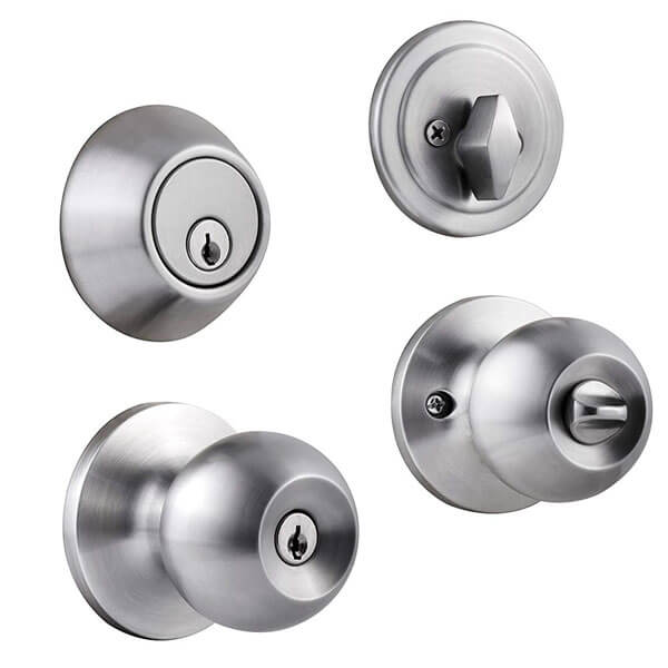 Front Door Knob Deadbolt Combo With Turn Button And Same Keys D T587SS - Front Door Knob Deadbolt Combo With Turn Button And Keys D101+587SS