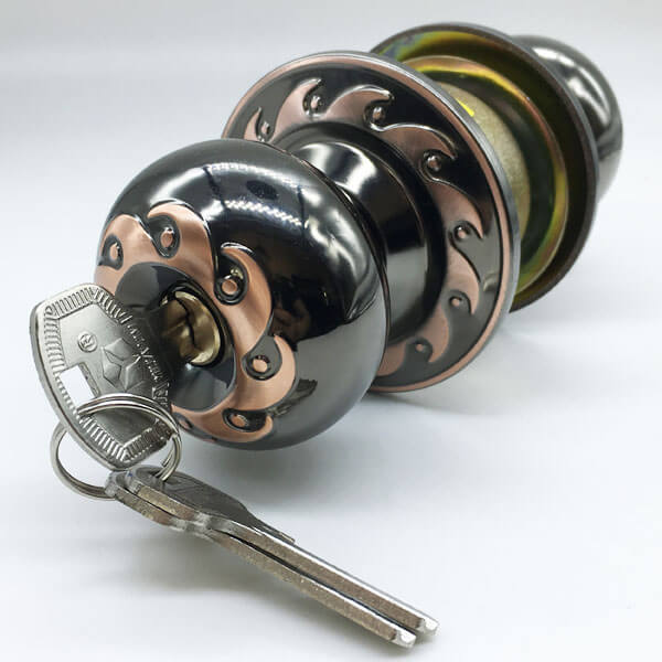 Keyed Entry Door Knob Set For Bedroom Door Outside 9560BNAC ET - Keyed Entry Door Knob Set For Bedroom Door Outside 9560