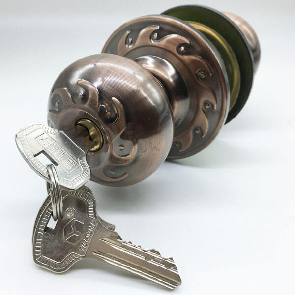 Keyed Entry Door Knob Set For Bedroom Door Outside9560AC ET - Keyed Entry Door Knob Set For Bedroom Door Outside 9560