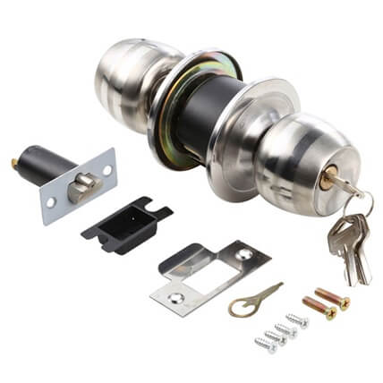 Stainless Steel Front Door Knob Lock With Key For Main Door 5831SS B ET 3 1 - HOME