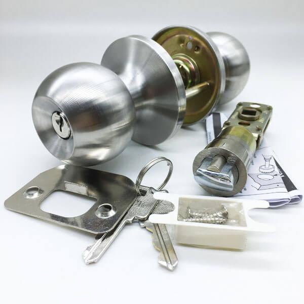 Two Way Locking Door Knob With Keys For Main Door And Security Doors T587SS ET 2 - Two Way Locking Door Knob With Keys For Main And Security Doors T587