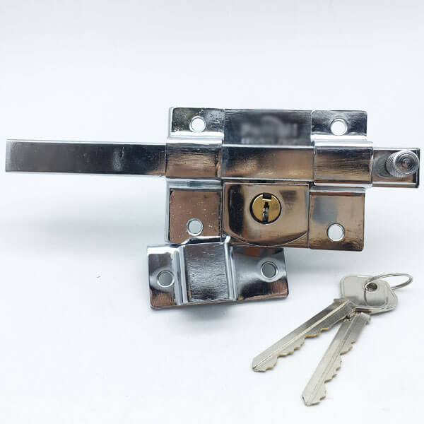 Zinc Alloy Security Rim Lock For Outward Opening Doors 661 5 - Cast Iron Outward Opening Night Latch For External Doors 661
