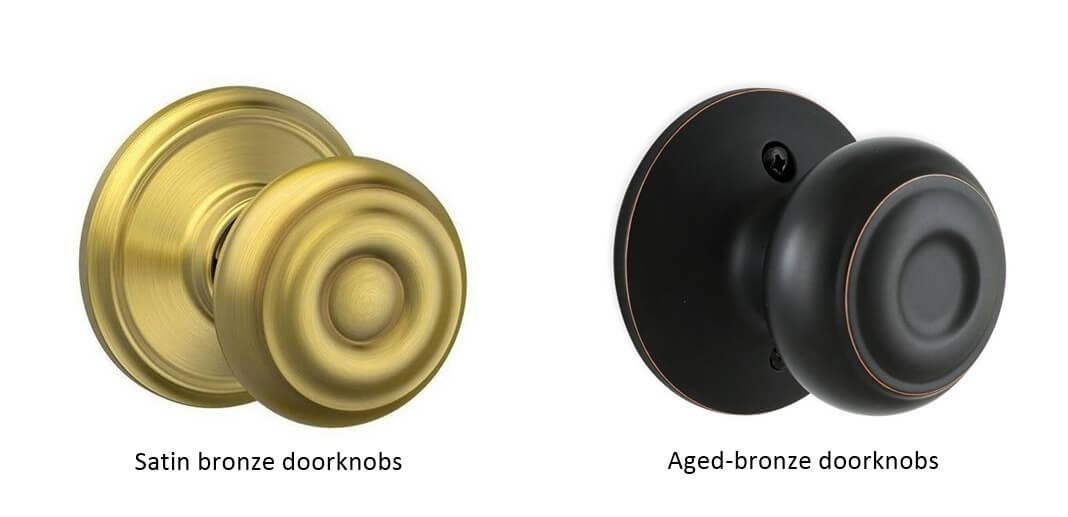 Satin bronze and aged bronze doorknobs - How to choose door knobs for your home?