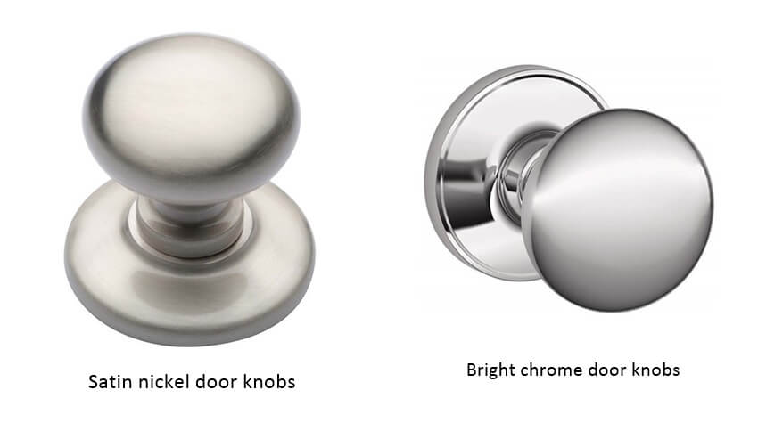Satin nickel and bright chrome door knobs - How to choose door knobs for your home?