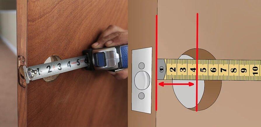 measure door knob backset - How to choose door knobs for your home?