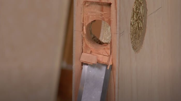 Mortise the Area Around the Faceplate 1 - Deadbolt Locks-The Ultimate Buying Guide