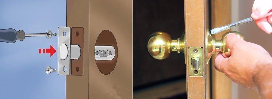 Unfasten the screws 2 - Deadbolt Locks-The Ultimate Buying Guide